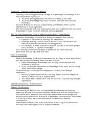 Chapter 8 - Learning and Decision Making - Textbook Notes.docx