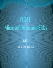 IS241 Lab 2 visio and ERD.pptx