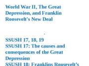 The Great Depression, Franklin Roosevelt's New Deal