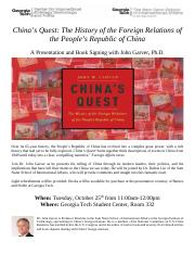 Chinas Quest Flyer