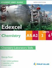 Student Unit Guide - Edexcel Chemistry Unit 3 & 6