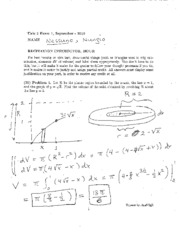 2010 Fall Exam #1 Solutions