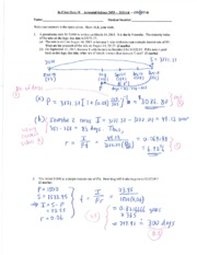 Actuarial Science 2053 Quiz 2
