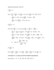 Mathematical Properties of the OLS