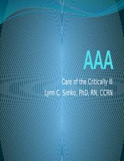 Critical Care AAA.pptm