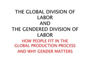 THE GLOBAL DIVISION OF LABOR AND GENDER(1)