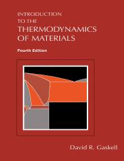 David R. Gaskell INTRODUCTION TO THE THERMODYNAMICS OF MATERIALS, FOURTH EDITION