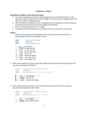 Homework Ch.2 Intro. to Structured Query Language
