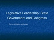 Legislative Leadership