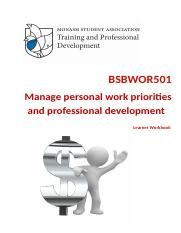 BSBWOR501 Manage personal work priorities and professional development.doc