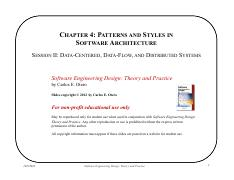 Chapter 4 - Styles and Patterns in Architecture - Session II (1)