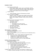 European Security Lecture Notes 2