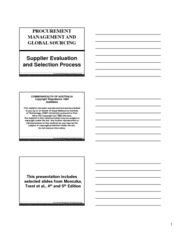 Supplier Evaluation Process (SIM-SC) 3 slides per page