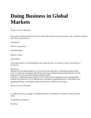 Doing Business in Global Market with CHM2.docx