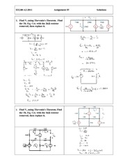 EE 240 Assignment  (5) Solution