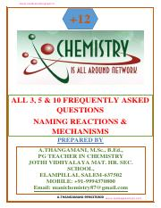 12th Chemistry Frequenly asked Questions(3,510Marks)-Published New