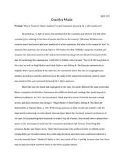 MUS 199 Essay 2 Country Music