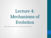 4-Mechanisms of Evolution