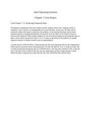 Chapter 7 Case Project