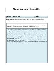 Atomic Learning_Access2013