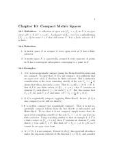 Compact metric spaces
