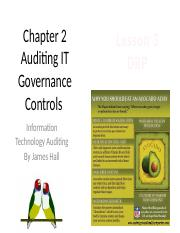 Chap02 Auditing IT Gov. Controls - MWF4 - DRP.pptx