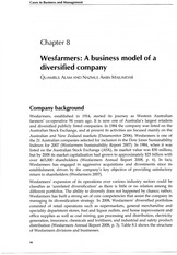 Wesfarmers - Case study - contains background information