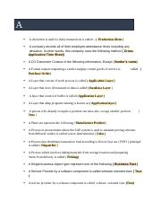 Soal Exam Sap Erp Docx Exam System Application And Production Sap Maav Nih Blog Baru D Saya Mau Berbagi Buat Agan Yang Mau Test Sap Fundamental Dari Course Hero