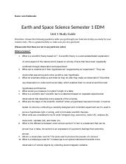 Earth Sccience Sem 1 Unit 1 Study Guide.docx