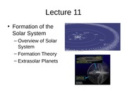 11 Formation of Solar System