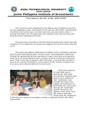ACCOMPLISHMENT REPORT-Mr & Ms JPIA