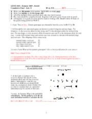 Summer 2009 Final Exam Key