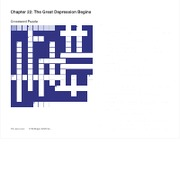 Ch. 22 The Great Depression Crossword Puzzle