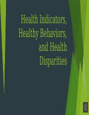 Health Indicators and Disparities