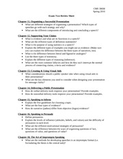 Exam Two- Review Sheet