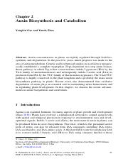 auxin biosyn and catabolism
