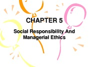 Chapter 5,Social Responsibility and Managerial Ethics