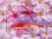 Topic 14 promotion