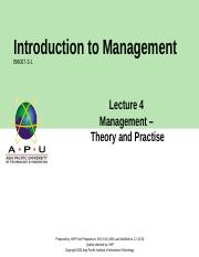 Chap 4 Mgmt Theory Practice