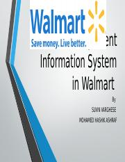 Management Information System in Walmart.pptx