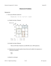 ECE 331 - Spring 2015 - HW9 Solutions