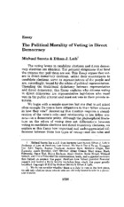 Political Morality of Voting in a Direct Democracy