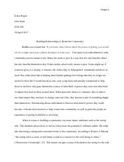 Community building essay .docx