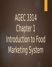Chapter 1 AGEC 3314