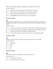 Nutrition Lipids Quiz