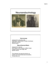 Lecture 8 Behavioral Neuroendocrinology