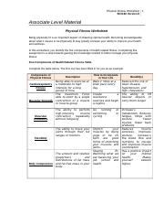 physical fitness worksheet Keith washington