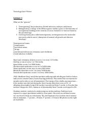 Toxicology Quiz 9 Notes FINAL