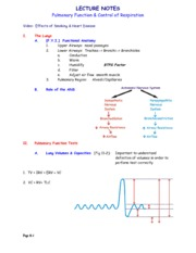 Notes- Pulmonary Function
