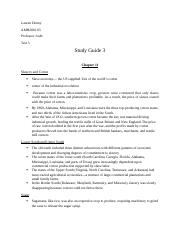 AMH2010 Exam 3 Review